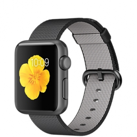 Apple Watch Sport 38mm Space Gray Aluminum Case with Black Woven Nylon MMF62