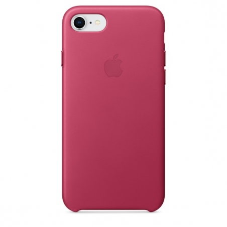 iPhone 7/8 Leather Case - Pink Fuchsia