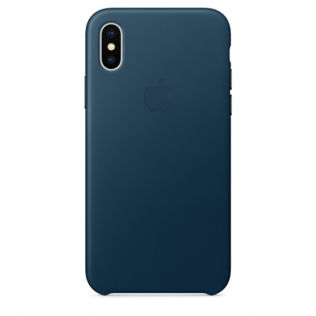 iPhone X\Xs Leather Case - Cosmos Blue