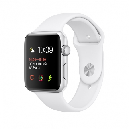 Apple Watch,  42mm Silver Aluminum Case with White Sport Band MNNL2
