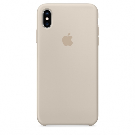 iPhone XS Max Silicone Case - Stone