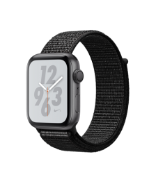 Apple Watch Nike+ Series 4 (GPS) 44mm Space Gray Aluminum Case with Black Nike Sport Loop (MU7J2)