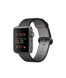 Apple Watch, 38 mm Space Gray Aluminum Case with Black Woven Nylon MP052