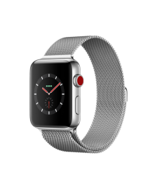 Apple Watch GPS + Cellular 42mm Stainless Steel Case with Milanese Loop MR1J2