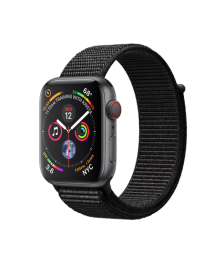 Apple Watch GPS + Cellular 44mm Space Gray Aluminum Case with Black Sport Loop (MTVV2)