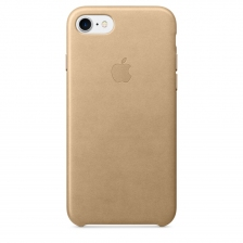 iPhone 7/8 Leather Case - Tan