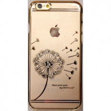 Hallsen Transparent Case Blowball iPhone 6/6S Gold