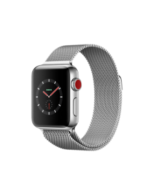 Apple Watch GPS + Cellular 38mm Stainless Steel Case with Milanese Loop MR1F2