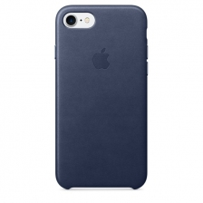 iPhone 7/8 Leather Case - Midnight Blue