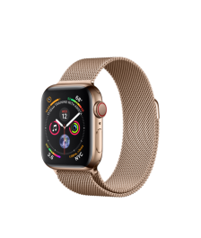 Apple Watch GPS + Cellular 40mm Gold Stainless Steel Case with Gold Milanese Loop (MTVQ2)