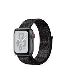 Apple Watch Nike+ Series 4 GPS + Cellular, 40mm Space Gray Aluminum Case with Black Nike Sport Loop (MTXH2)