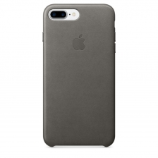 iPhone 7 Plus/8 Plus Leather Case - Storm Gray