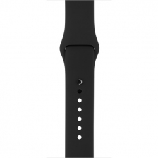 Apple Black with Steel Pin Sport Band для Watch 38mm