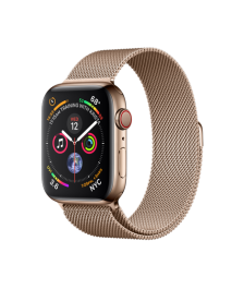 Apple Watch GPS + Cellular 44mm Gold Stainless Steel Case with Gold Milanese Loop (MTX52)