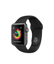 Apple Watch (GPS) 38mm Space Gray Aluminum Case with Black Sport Band MQKV2