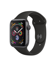 Apple Watch GPS 44mm Space Gray Aluminum Case with Black Sport Band (MU6D2)