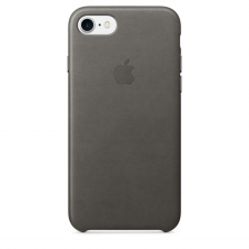 iPhone 7/8 Leather Case - Storm Gray