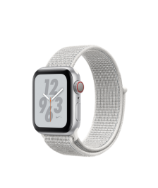 Apple Watch Nike+ Series 4 GPS + Cellular, 40mm Silver Aluminum Case with Summit White Nike Sport Loop (MTXF2)