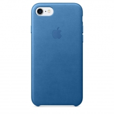 iPhone 7/8 Leather Case - Sea Blue