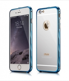 Bumper Xoomz Mirror Back Cover Case iPhone 6/6S Blue