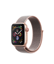 Apple Watch GPS + Cellular 40mm Gold Aluminum Case with Pink Sand Sport Loop (MTVH2)