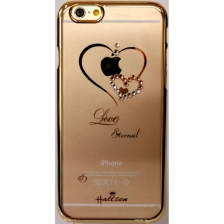 Накладка Hallsen Transparent Case Heart iPhone 6/6S Gold