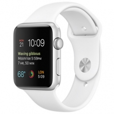 Apple Watch Sport 42mm Silver Aluminum Case with White Sport Band MJ3N2