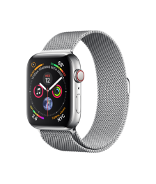 Apple Watch GPS + Cellular 44mm Stainless Steel Case with Milanese Loop (MTX12)