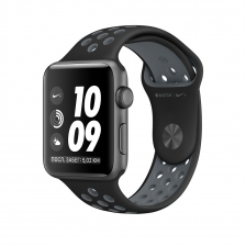 Apple Watch Nike+, 42 mm Space Gray Aluminum Case with Black/Cool Gray Nike Sport Band MNYY2