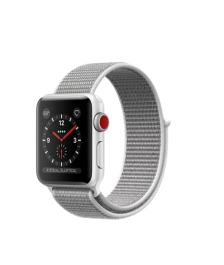 Apple Watch GPS + Cellular 38mm Silver Aluminum Case with Seashell Sport Loop MQJR2