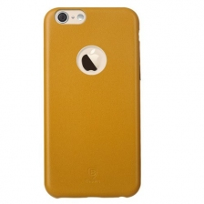 Накладка Baseus iPhone 6/6S Leather Thin Yellow
