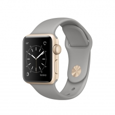 Apple Watch, 38 mm Gold Aluminum Case with Concrete Sport Band MNP22