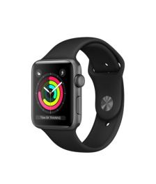 Apple Watch (GPS) 42mm Space Gray Aluminum Case with Black Sport Band MQL12