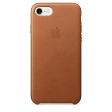 iPhone 7/8 Leather Case - Saddle Brown