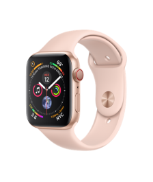 Apple Watch GPS + Cellular 44mm Gold Aluminum Case with Pink Sand Sport Band (MTVW2)