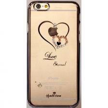 Накладка Hallsen Transparent Case Heart iPhone 5/5S/SE Black
