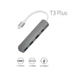 WIWU Adapter T3 Plus Gray