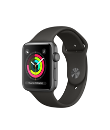 Apple Watch (GPS) 42mm Space Gray Aluminum Case with Gray Sport Band MR362