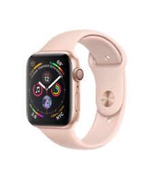 Apple Watch GPS 44mm Gold Aluminum Case with Pink Sand Sport Band (MU6F2)