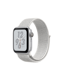 Apple Watch Nike+ Series 4 (GPS) 40mm Silver Aluminum Case with Summit White Nike Sport Loop (MU7F2)