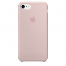 iPhone 7/8 Silicone Case - Pink Sand
