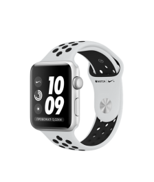 Apple Watch Nike+ Series 3 (GPS) 42mm Silver Aluminum Case with Pure Platinum/Black Nike Sport Band MQL32