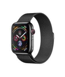 Apple Watch GPS + Cellular 44mm Space Black Stainless Steel Case with Space Black Milanese Loop (MTX32)