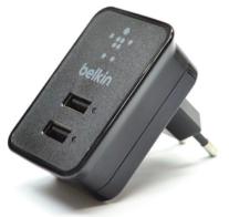 Сетевое зарядное устройство 2 USB Belkin 2,1A/10Watt Black BK055