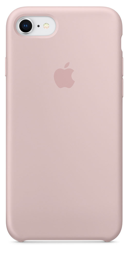 iPhone 7/8 Silicone Case — Pink Sand