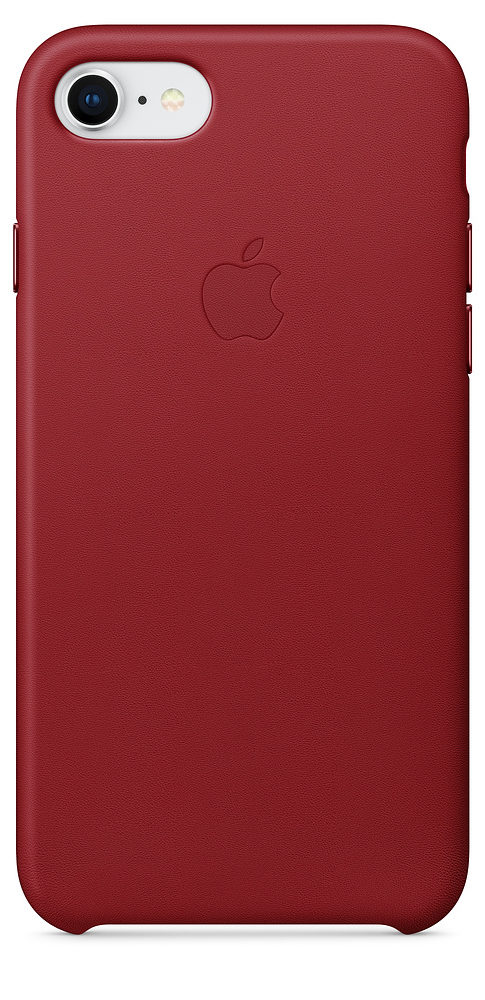 iPhone 7/8 Leather Case — (PRODUCT)RED