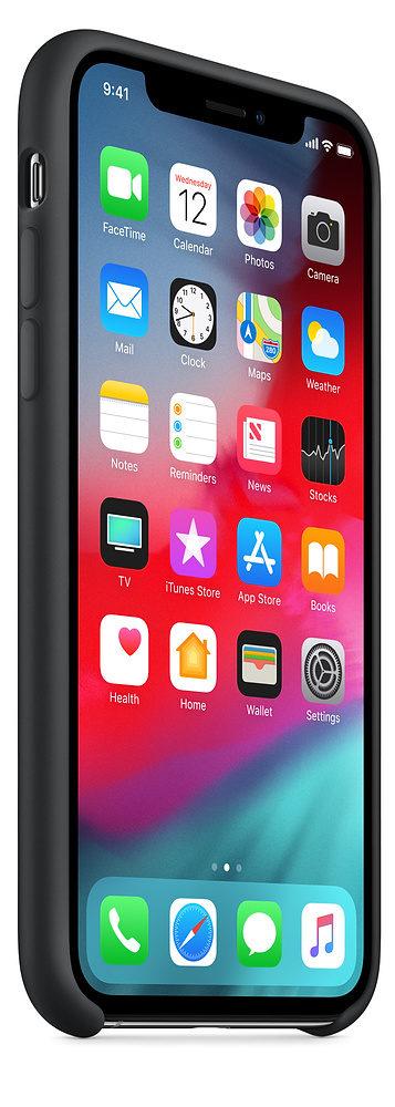 Чехол iPhone XS Max Silicone Case - Black