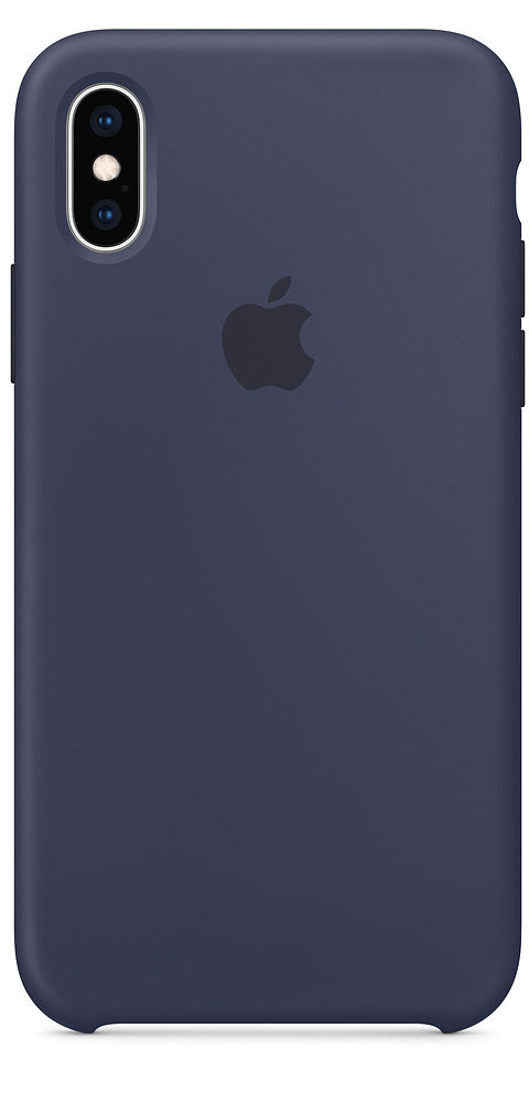 Чехол iPhone XS Max Silicone Case - Midnight Blue