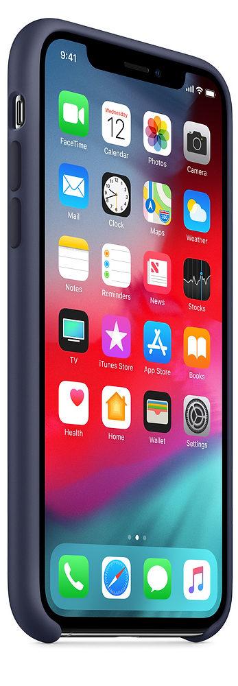 Чехол iPhone XS Max Silicone Case - Midnight Blue