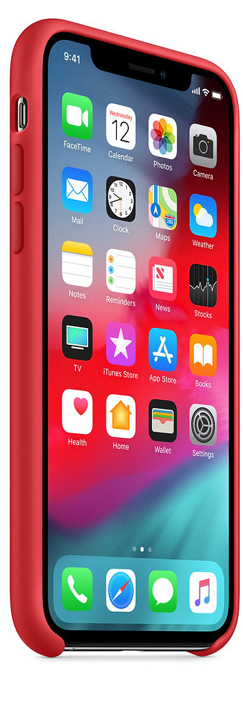 Чехол iPhone XS Max Silicone Case - (PRODUCT)RED